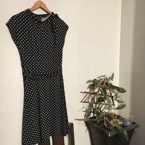 Modcloth - Retro Black and White Poke-a-Dot Dress